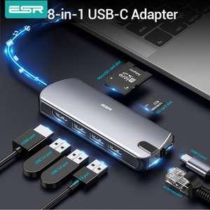 Хаб USB 3.0 ESR - 8 в 1