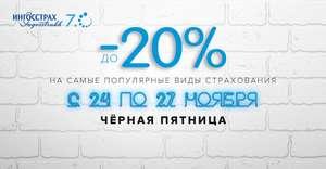 15-20% на все виды страхования в ИНГОССТРАХ