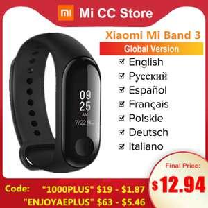 Фитнес-браслет Xiaomi Mi Band 3 Global от 12.94$