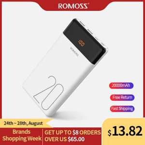 Внешний аккумулятор ROMOSS LT20/LT20PS 20000mAh