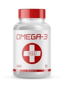 """Рыбный жир Омега-3 """"9-1-1"""" (Omega-3) 90 капсул"""