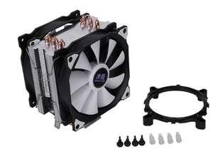 Кулер для процессора Snowman 12 см, с двумя вентиляторами 6 медных трубок, LGA775 1151 115X 1366