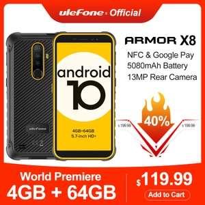 """Смартфон Ulefone Power X8 Android10 5,7"""" 4+64 Гб ip68 NFC"""