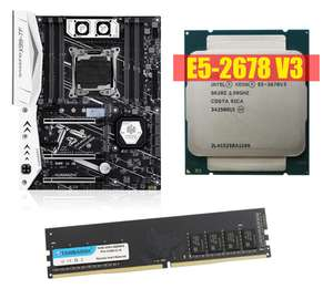 Среднебюджетная сборка ПК (материнка HUANANZHI X99 / процессор Intel Xeon E5-2678 V3 / оперативка TANBASSH 2x8Gb DDR4 2133MHz)