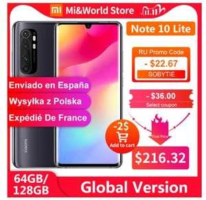 [11.11] Смартфон Xiaomi Mi Note 10 Lite 6/64