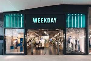 Скидка 25% + бесплатная доставка в магазине Weekday
