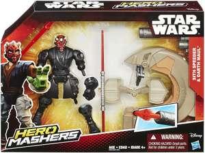 Hasbro Star Wars Hero Mashers Sith Speeder and Darth Maul, фигурка и автомобиль