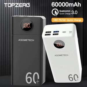 [11.11] Внешний аккумулятор 18 Вт ASOMETECH 60.000-50.000 мАч