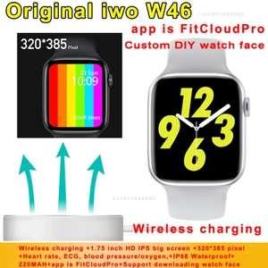 Смарт-часы iwo W46 2020 (копия Apple Watch 5, 44 mm)