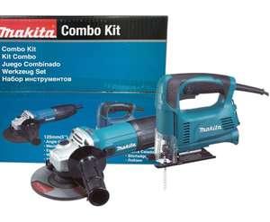 Makita набор инструмента DK0122: УШМ GA5030 + электролобзик 4326