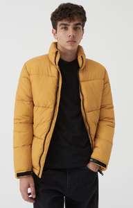 Распродажа мужских курток в Sinsay (Например желтая дутая куртка)
