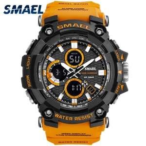 Спортивные наручные часы SMAEL 1802 c водозащитным и ударопрочным корпусом