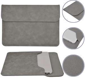 Чехол-папка-футляр-конверт SSY замша для ноутбука MacBook Air 13 / MacBook Pro 13 Retina, серый