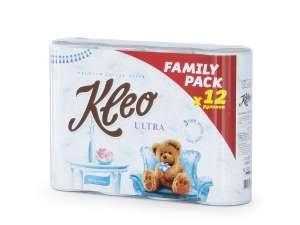 Бумага туалетная Kleo Ultra, 3 слоя, 12 рулонов