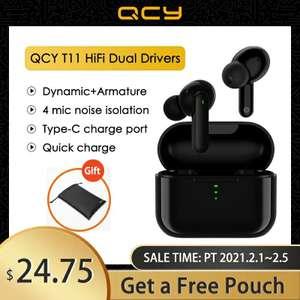 Hybrid TWS Bluetooth наушники QCY T11