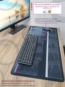 Большой коврик с сочетаниями популярных горячих клавиш из WIN, OFFICE, WEB, PS на русском языке, 800х400