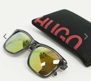 Мужские солнцезащитные очки HUGO cropped logo с зеркальными линзами