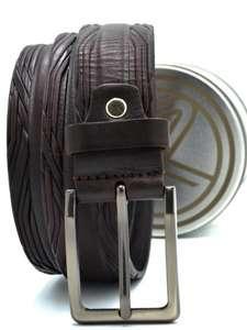 Кожаный ремень в железной упаковке Sterner