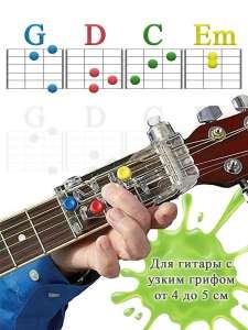 VIBONCHA / Тренажер помощник самоучитель устройство обучение с нуля для начинающих игра на гитаре аккорд