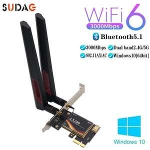 PCIe сетевая карта (Intel AX200) Wi-Fi 2,4G/5 ГГц + Bluetooth 5,1