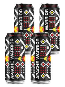 Энергетический напиток Power of Warrior / Apache Warrior Tropic (цена за 4 шт.)