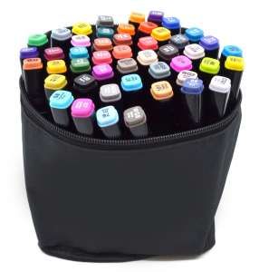 Двухсторонние маркеры для рисования (скетчинга) 48 цветов