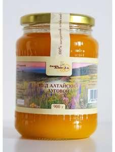 Мёд Алтайский луговой Пасека Клоос Д.А. 900 г (сбор 2020 г)