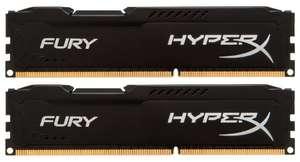 Оперативная память HyperX Fury DDR3 1600 (PC 12800) DIMM 240 pin, 8 GB 2 шт. 1.5 В В, CL 10, HX316C10FBK2/16