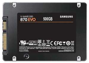 "SSD Samsung SATA III 500Gb 870 EVO 2.5"" (R560/W530MB/s) (MZ-77E500BW)"