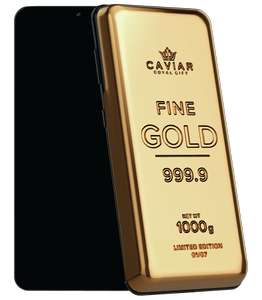 Смартфон Samsung S21 Ultra в слитке золота от Caviar