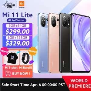 Смартфон Xiaomi Mi 11 Lite 6/64 Gb (глобальная версия)