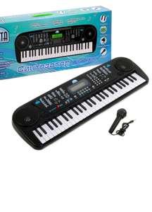 Синтезатор детский с микрофоном, русифицированный, 54 клавиши