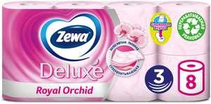 4 уп. по 8 рулонов туалетной бумаги Zewa Deluxe (72₽ за уп. с промоком из игры в VK)