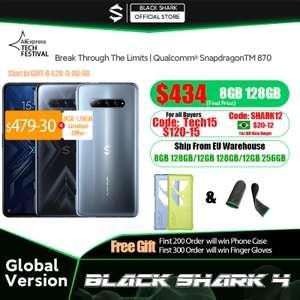 Смартфон Black Shark 4 - Snap 870, 8/128ГБ, 144Гц, 5G, WiFi6, 4500mAh