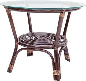 Столик ротанговый со стеклом MJ BHM001-C, Индонезия