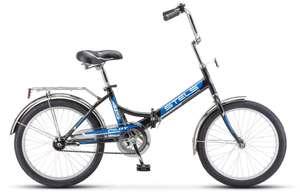 """Велосипед Stels Pilot-415 20 (Z010) городской складной рам.:13.5"""" кол.:20"""" черный/синий 15.9кг"""
