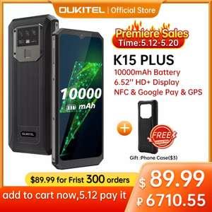 Смартфон OUKITEL K15 plus 3/32 с NFC