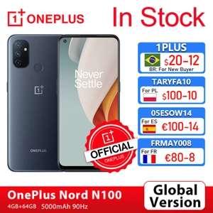OnePlus Nord N100 4+64 GB (90 Гц, 5000 мАч, стерео)