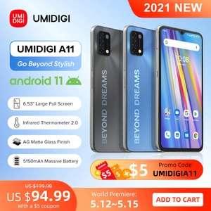 "Смартфон UMIDIGI A11, глобальная версия (Android 11 Helio G25 64 Гб 6,53"" 5150 мАч)"