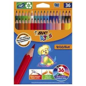 Цветные карандаши, 36 цветов, детские, шестигранные, ударопрочные, BIC Kids Evolution