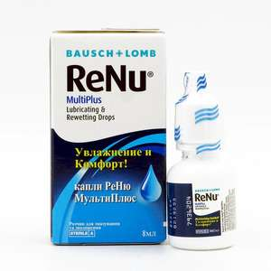 Капли для глаз ReNu MultiPlus 8 мл. на Tmall