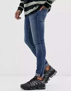 Супероблегающие синие джинсы Topman (не все размеры)