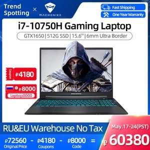 """Игровой ноутбук Machenike T58V 15,6"""" FHD IPS 16+512Гб Intel Core i7-10750H"""