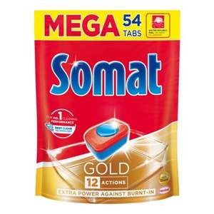 4шт. Таблетки для посудомоечных машин SOMAT Gold, 54 шт (416 руб за шт.)