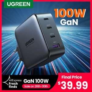 Зарядное устройство UGREEN CD226 GaN 100 Вт