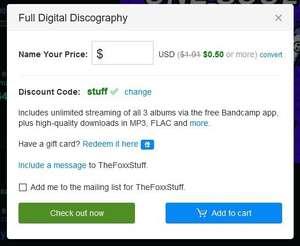 Полная дискография за 0.5$ TheFoxxStuff Bandcamp