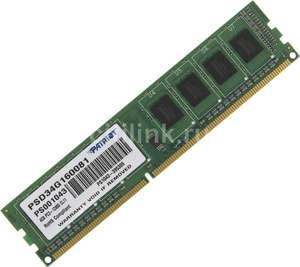 Оперативная память DDR3 4GB PATRIOT, 1600 MHz