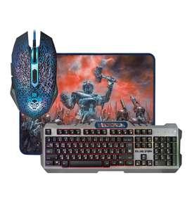 Комплект Defender Killing Storm клавиатура + мышь + ковер