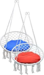 Кресло подвесное плетеное круглое LTAE009/LF60311 в красном или синем цвете (цена зависит от города)