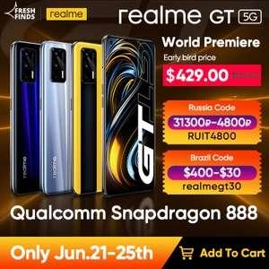 "Смартфон Realme GT 5G 8/128, 888 Snap, 65 Вт заряда, 120 Гц 6,43"" AMOLED"